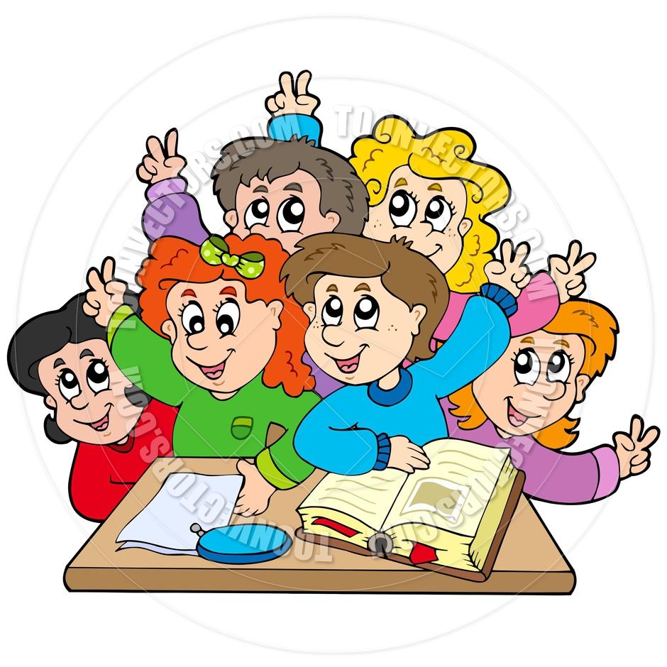 940x940 Cartoon Group Of School Kids By Clairev Toon Vectors Eps