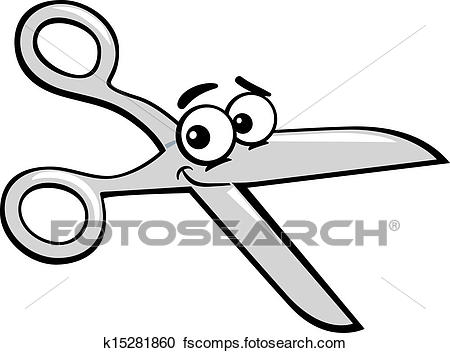 450x353 Clipart Of Scissors Clip Art Cartoon Illustration K15281860