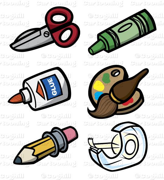 540x594 Art Amp Craft Tools Stock Illustration Cartoon Clipart