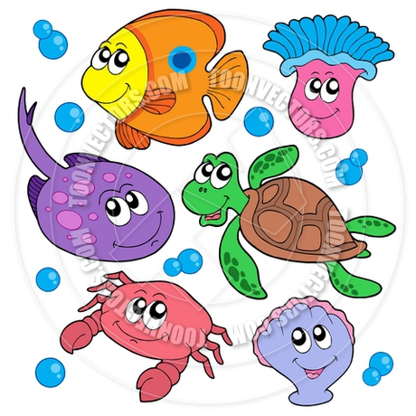 460x460 Marine Life Clipart Sea Animal