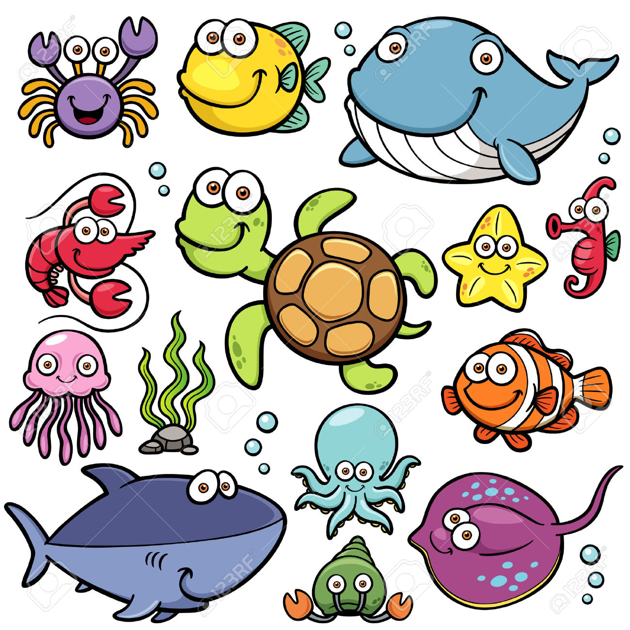 1300x1300 Sea Life Clipart Simple Animal