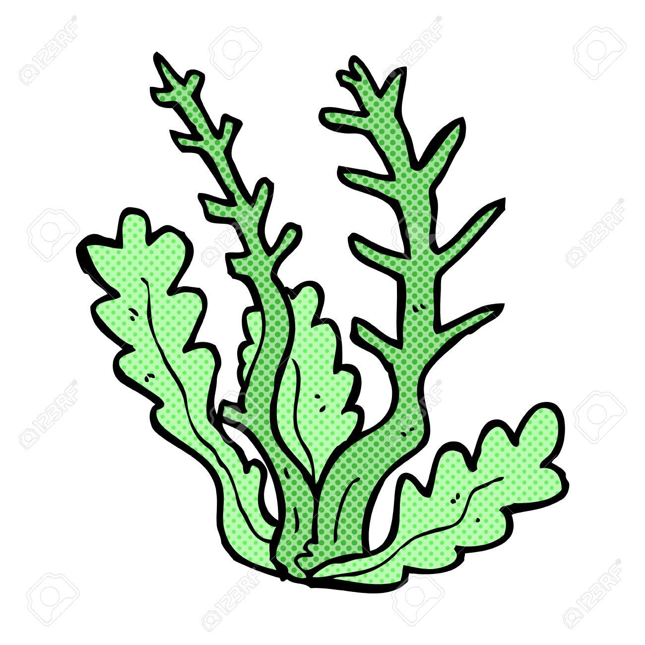1300x1300 Retro Comic Book Style Cartoon Seaweed Royalty Free Cliparts
