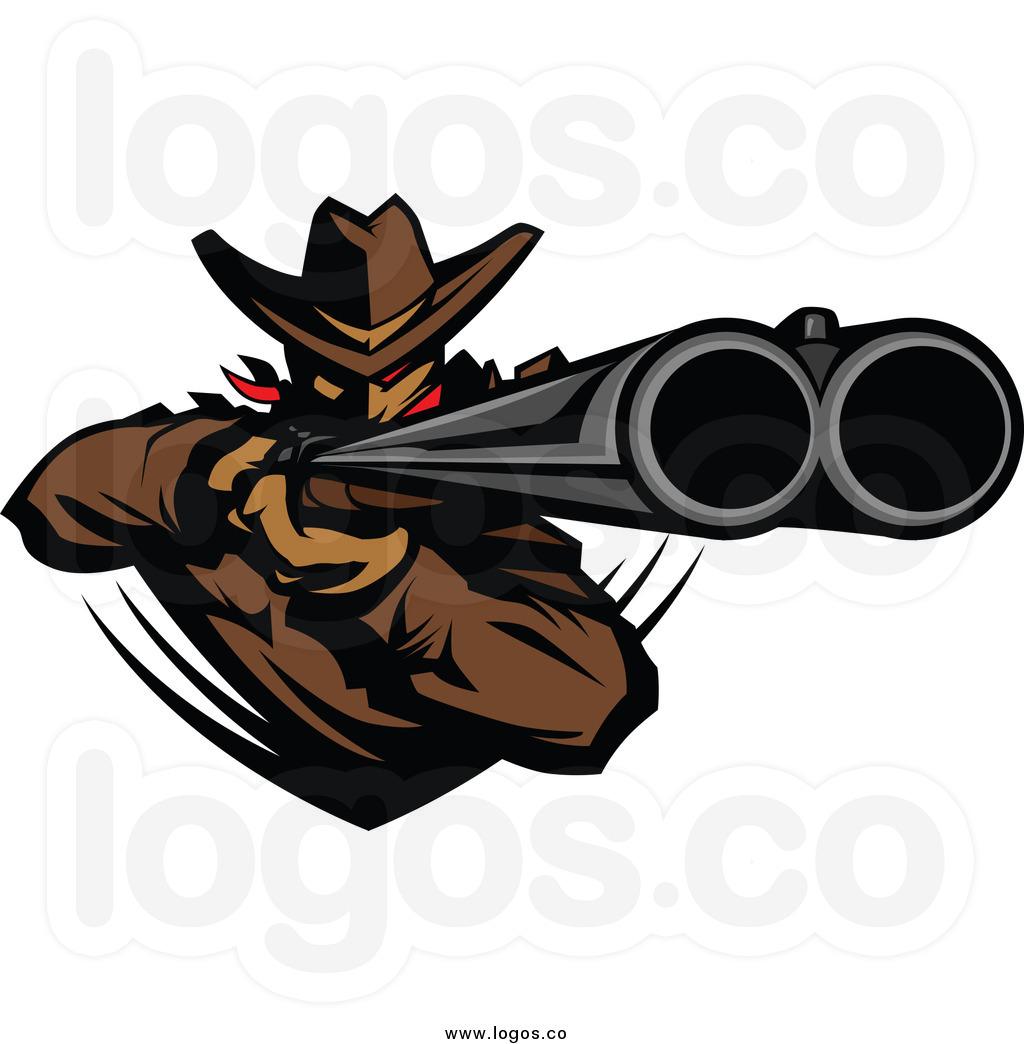 1024x1044 Outlaw Silhouette Double Barrel Shotgun Clipart Man Cave