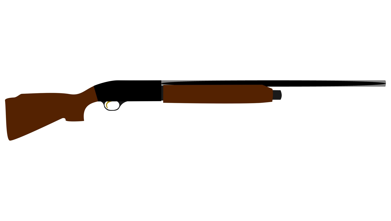 3000x1696 Shotgun Clipart Pump Shotgun