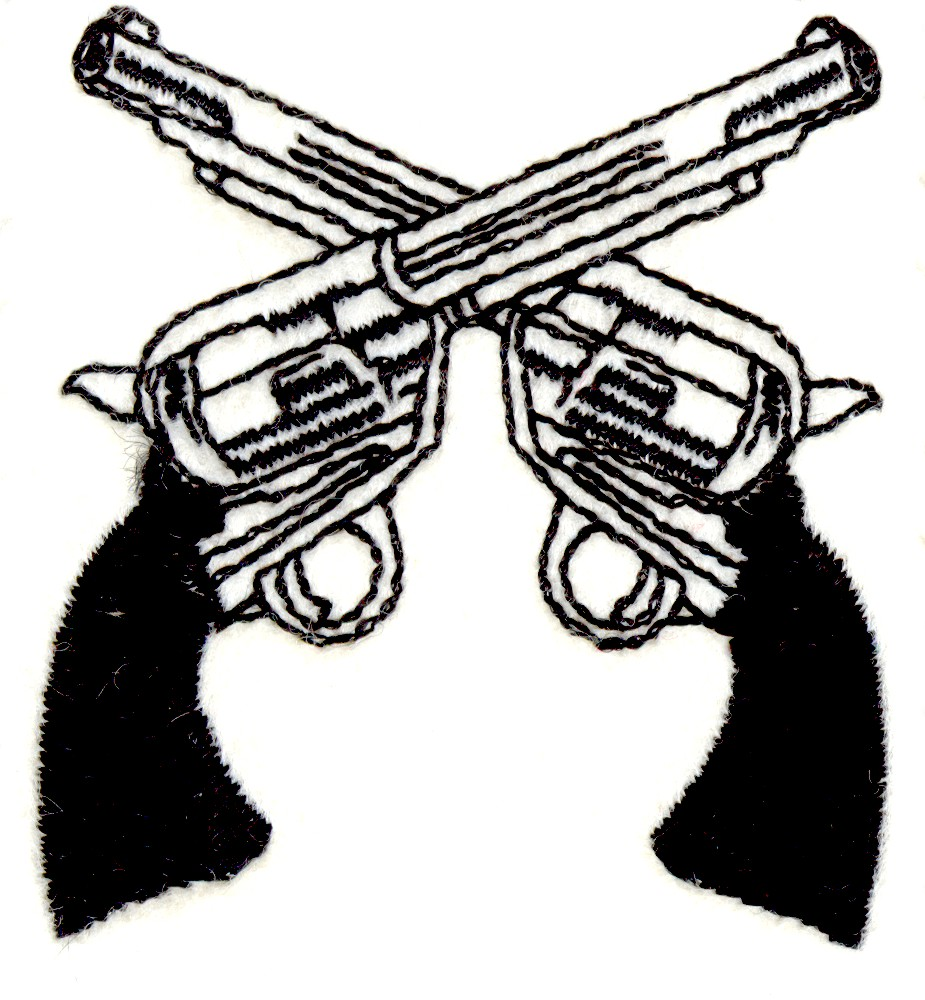 925x1000 Two Pistols Crossed Clipart