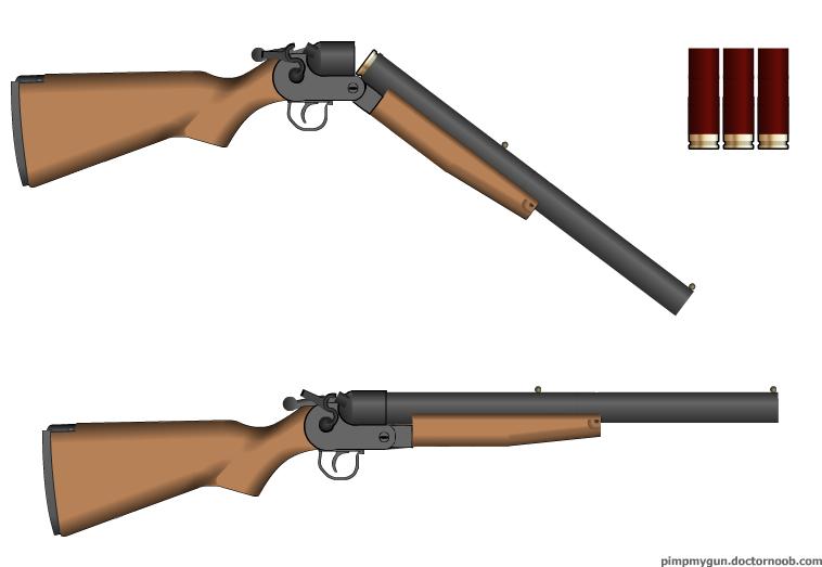 758x523 Side By Side Hammer Gun By Zomb1e M4n