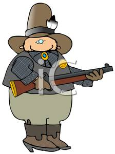 224x300 Colorful Cartoon Of A Sheriff Holding A Shotgun