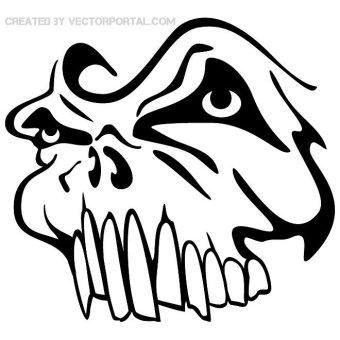 Cartoon Skull Clipart