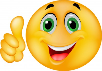 400x277 Female Thumbs Up Smiley Face Clipart