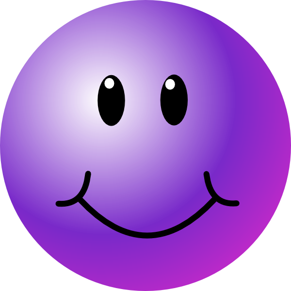 600x600 Purple Smiley Face Clip Art