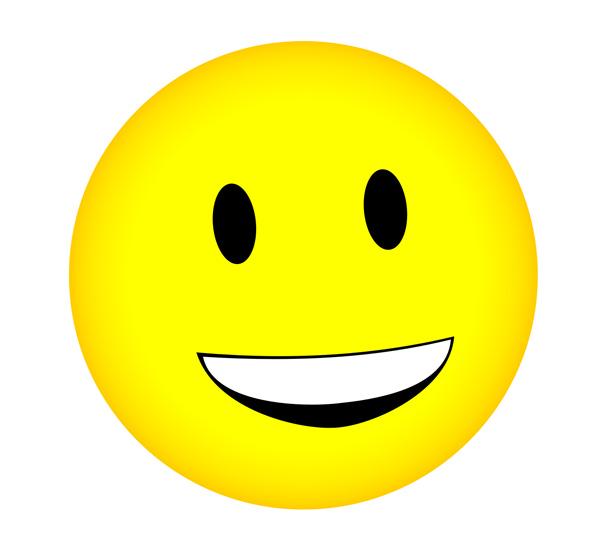 600x547 Cartoon Smiley Face Clipart