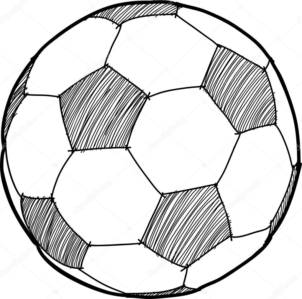 1024x1014 Hand Writing Soccer Ball ( Football ) Cartoon Stock Vector