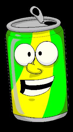 250x450 Soda Can Cartoon Clipart