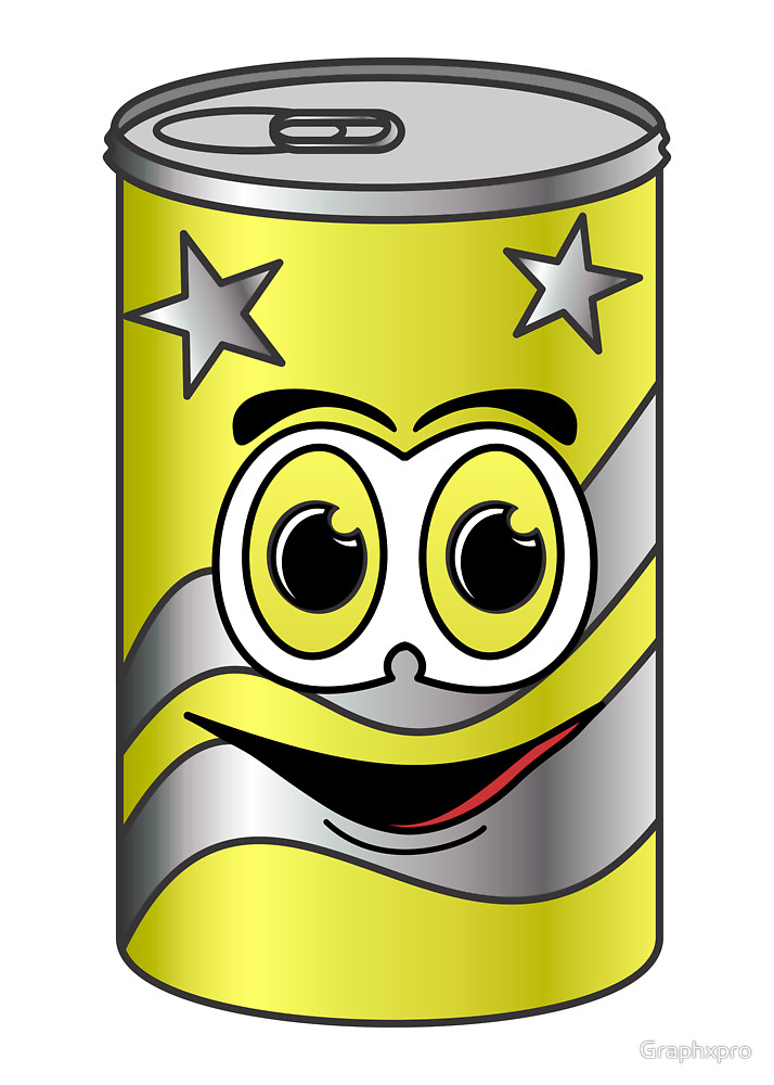 714x1000 Yellow Soda Can Cartoon by Graphxpro Redbubble