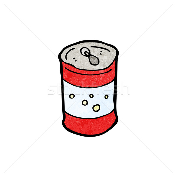 600x600 cartoon soda can vector illustration © lineartestpilot (#3153257