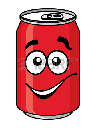 336x450 Cartoon Cola And Soda Cans, Cups And Bottle Set For Fast Food