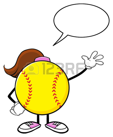 Cartoon Softball Clipart