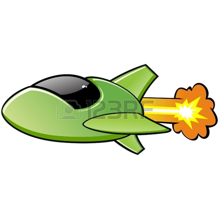 450x450 Vector Illustration Of A Cartoon Spaceship No Radial Gradient