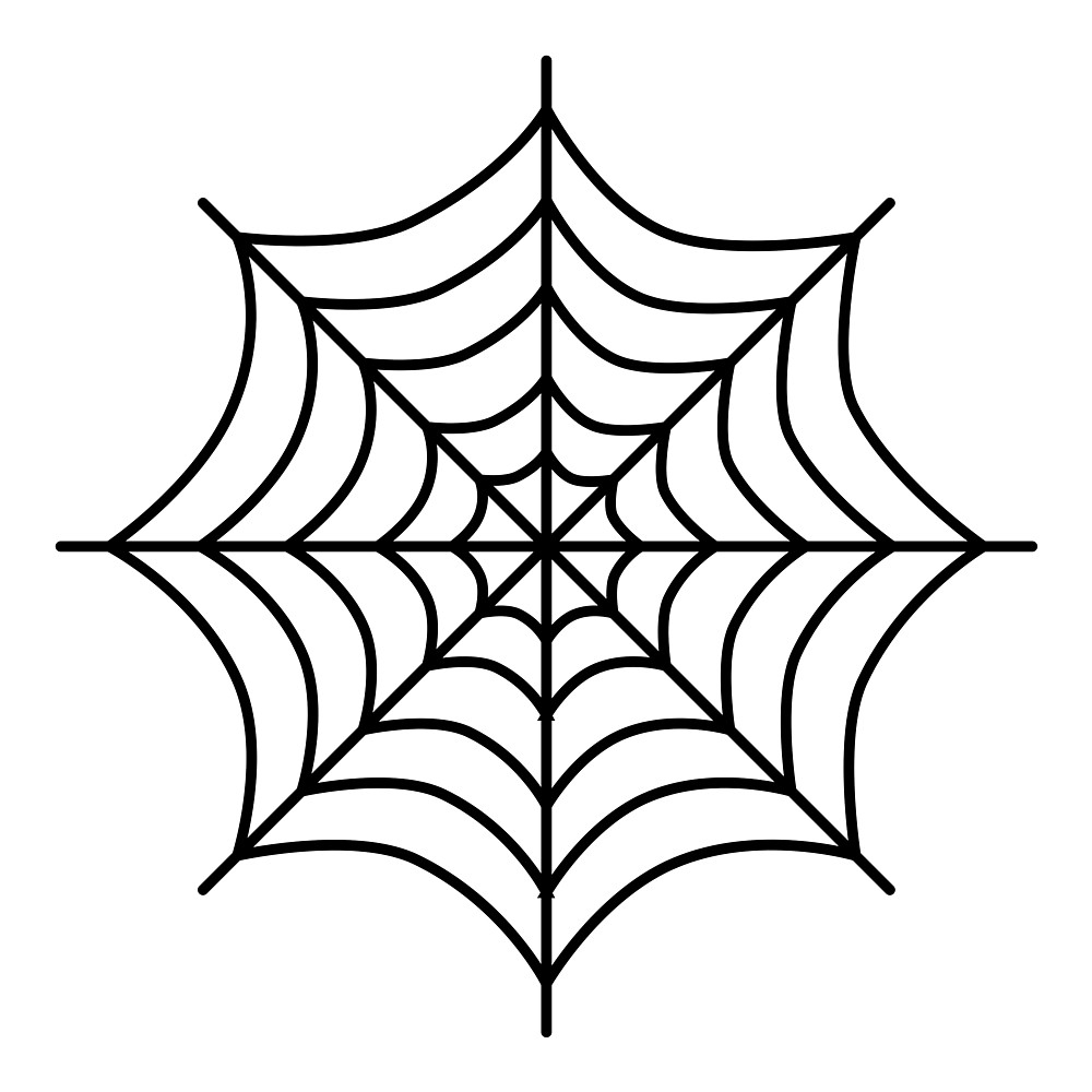 1000x1000 Spider Web Cartoon Drawing Cartoon Spider Web Clipart