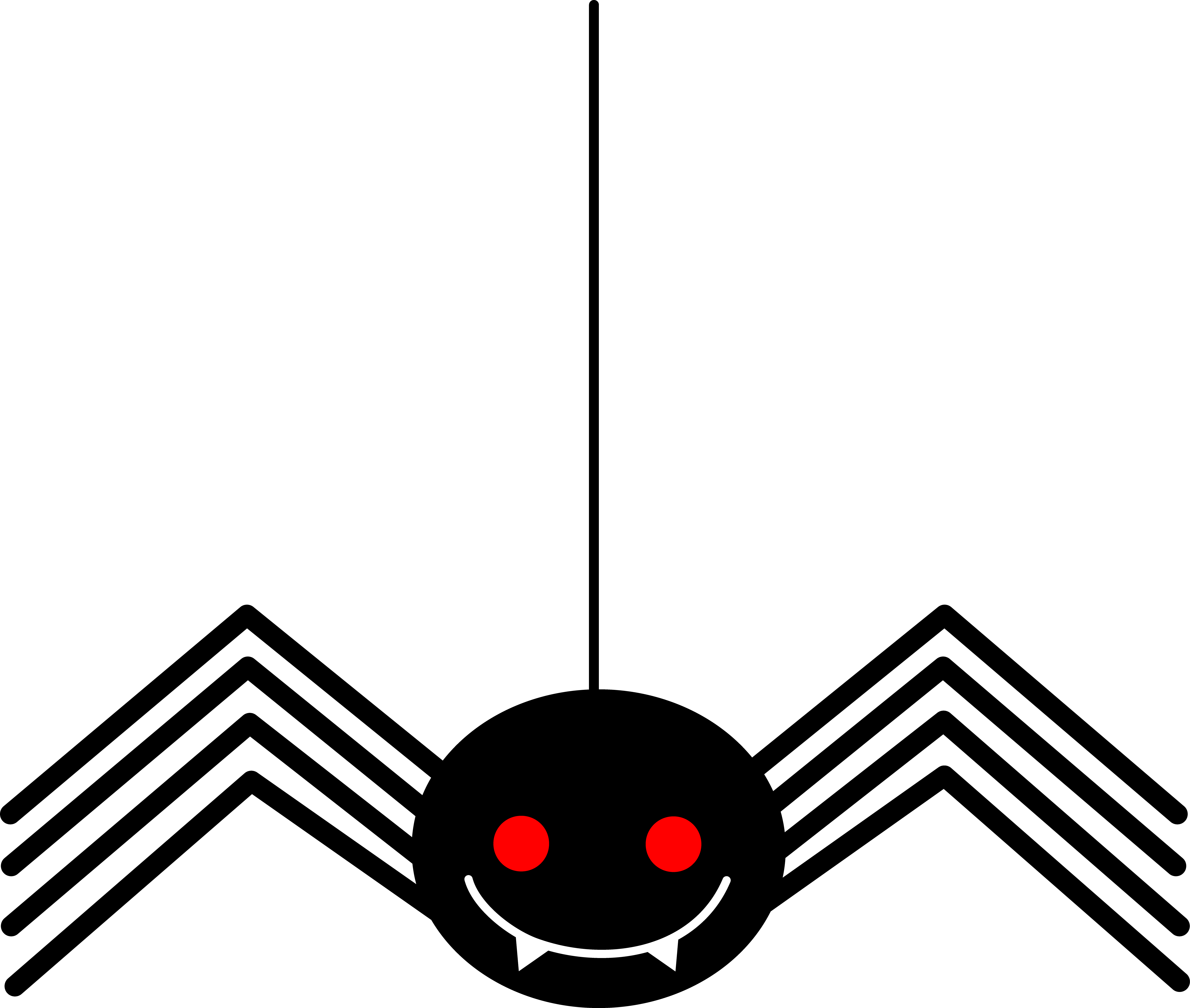 5997x5082 Spooky Little Black Halloween Spider