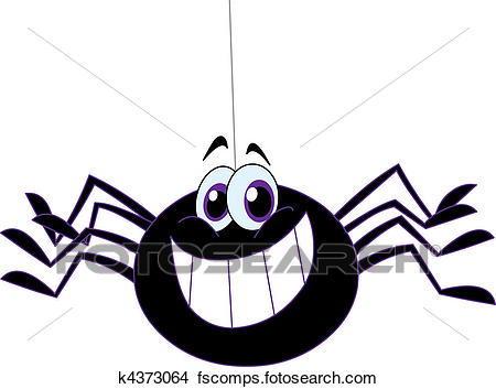 450x353 Clipart Of Spider K4373064