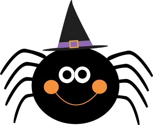 500x408 Dracula Clipart Halloween Spider