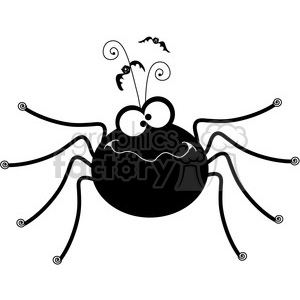 300x300 Royalty Free Halloween Spider 387422 Vector Clip Art Image