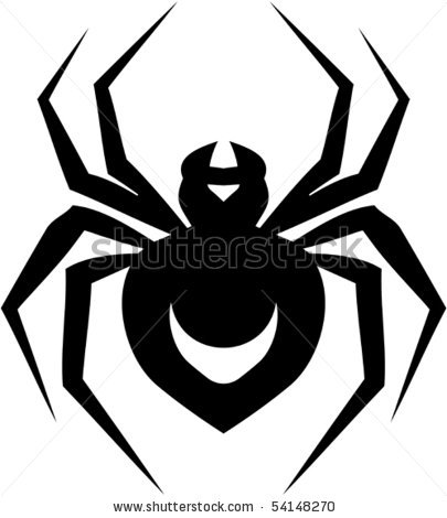 405x470 Of A Cartoon Spider On A White Background In A Vector Clip Art
