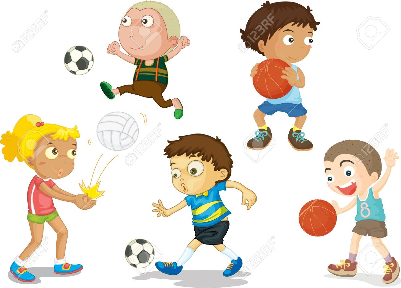 cartoon sports clipart clip illustration drawing clipartmag vector