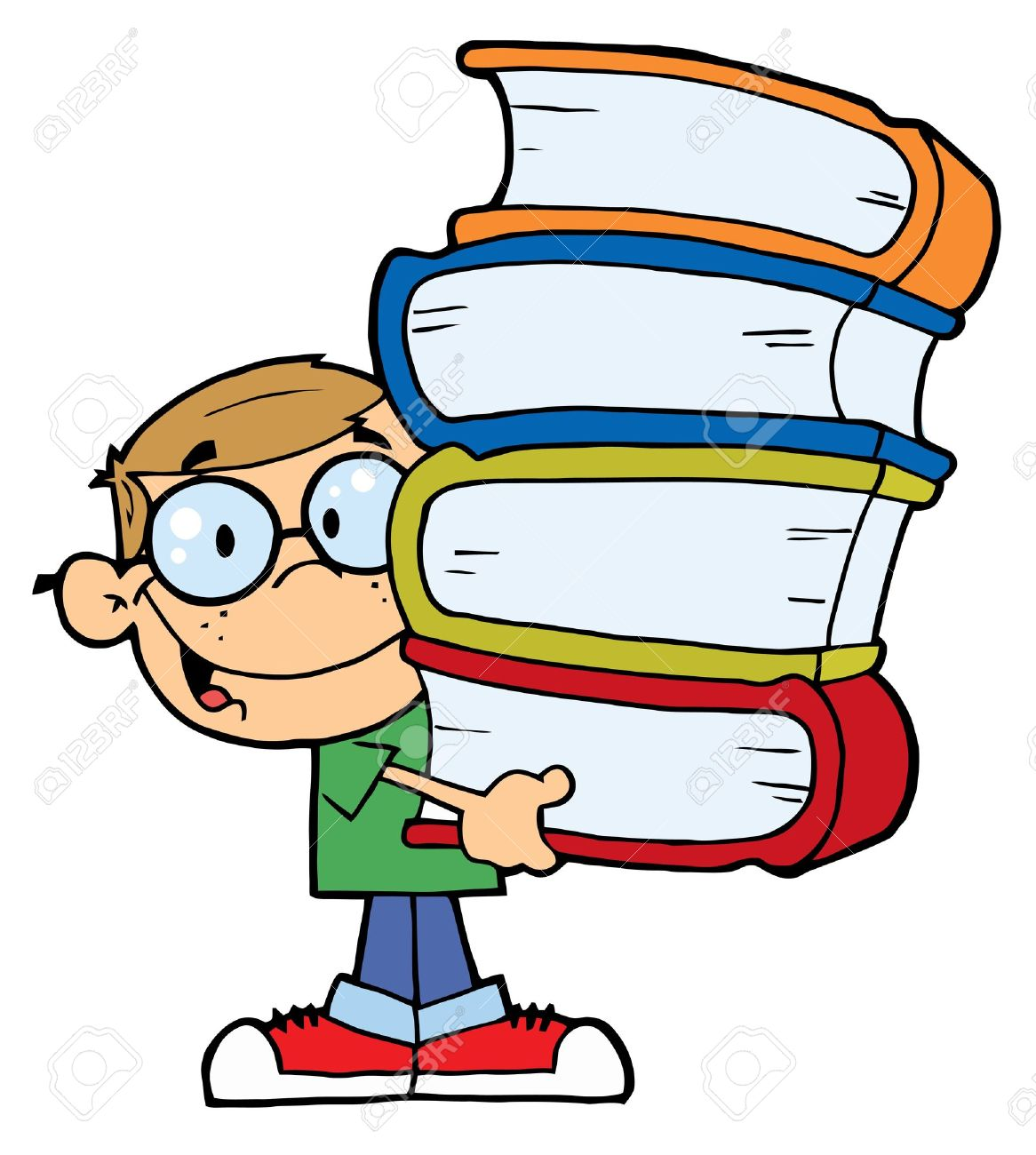 Cartoon Stack Of Books