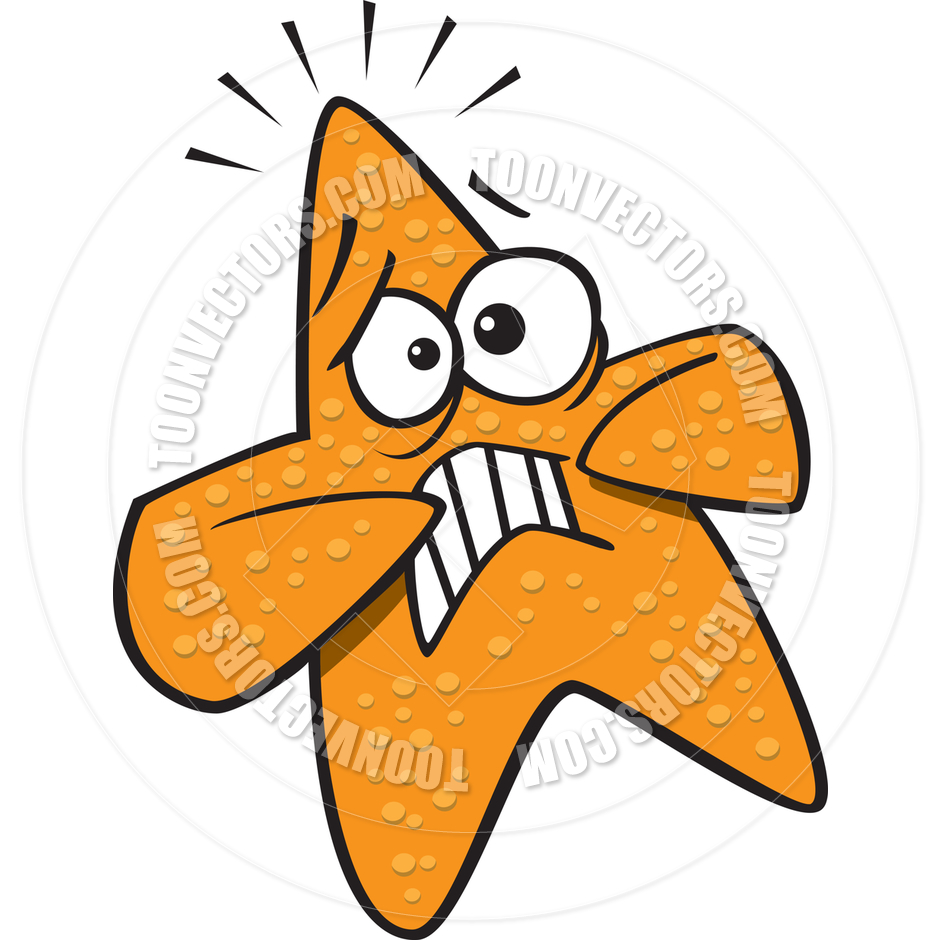 940x940 Cartoon Starfish Scared By Ron Leishman Toon Vectors Eps