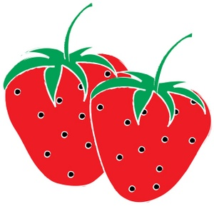 300x300 Cartoon Strawberry Clipart 2