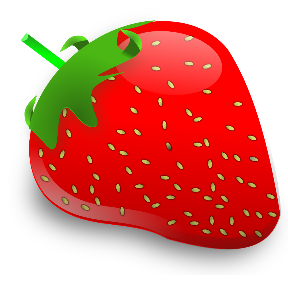 1000x1000 Cartoon Strawberry Clipart Kid 3