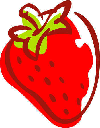351x450 Cartoon Strawberry Clipart Kid 4