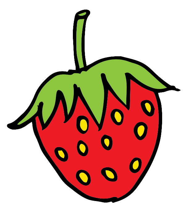612x692 Free Cartoon Strawberry Clip Art