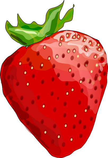 408x599 Strawberry Cartoon Strawberries Clipart