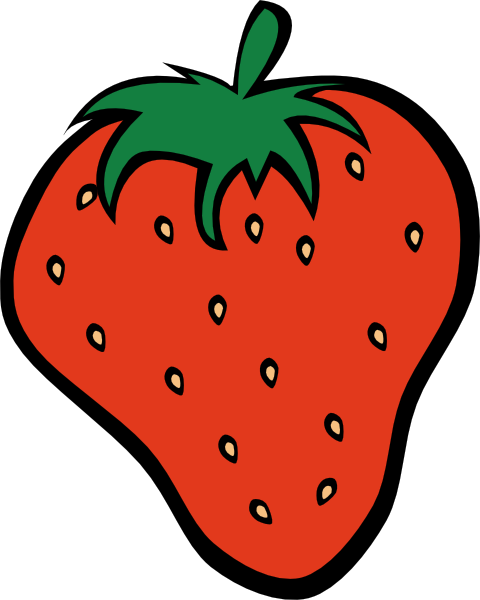 480x600 Strawberry Clip Art Free Vector 4vector