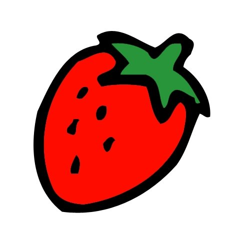 500x500 Strawberry Clipart Black And White Free 2