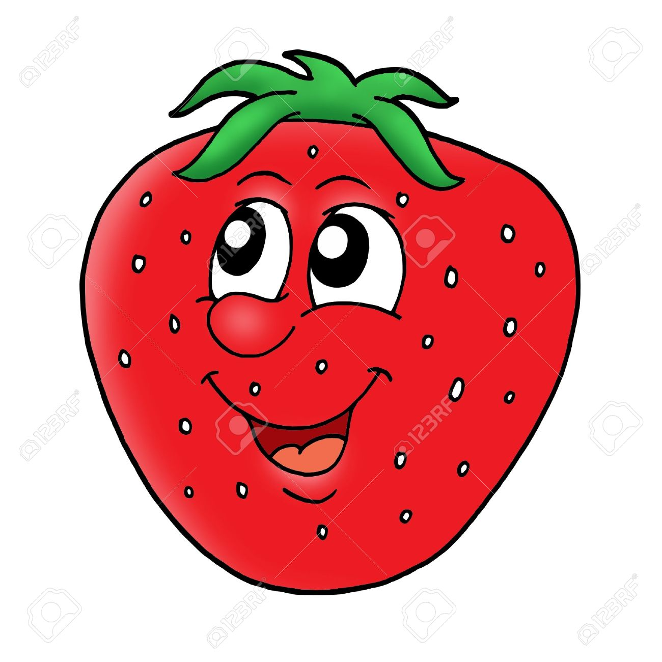 1300x1300 Strawberry Clipart Face