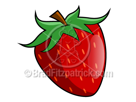 432x324 Cartoon Strawberry Clip Art Strawberry Graphics Clipart