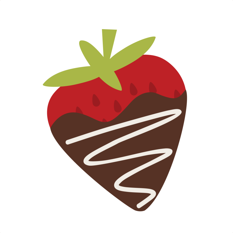 800x800 Cartoon Strawberry Clipart