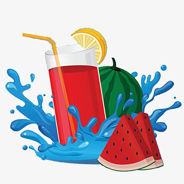 600x600 Cartoon Summer Juice Cool, Juicy Peach Juice, Fruit Juice, Fruits
