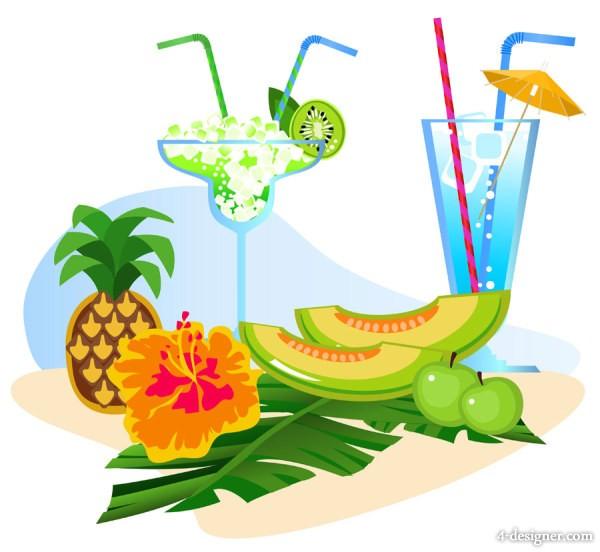 600x552 4 Designer Summer Cartoon Illustrator 07 Vector Material