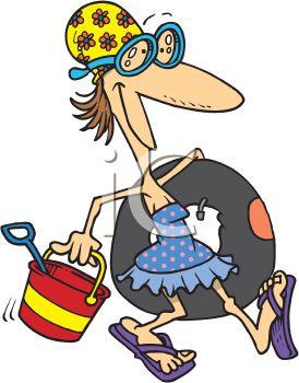 274x350 Royalty Free Clip Art Image Summer Cartoon Of A Skinny Woman