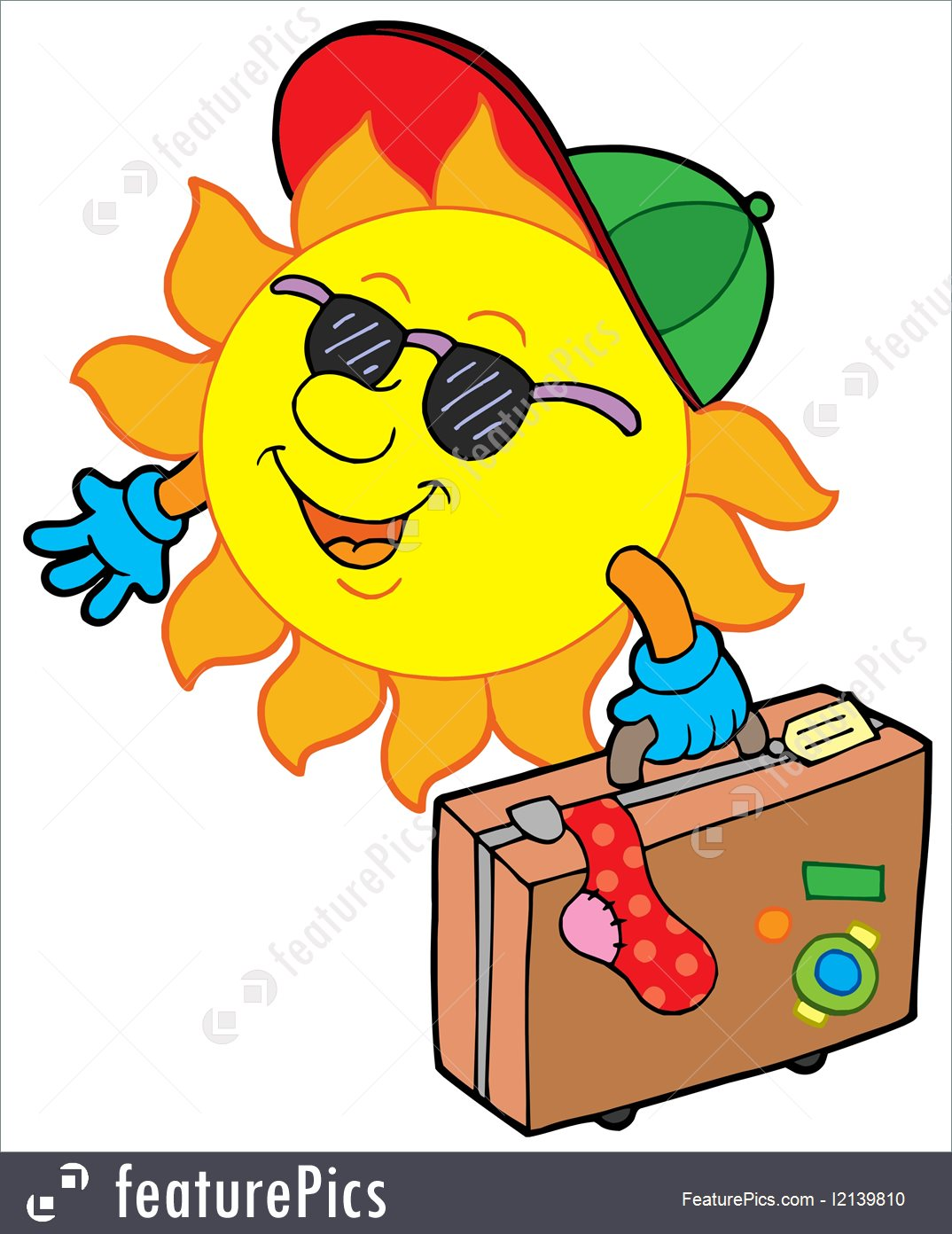 1074x1392 Summer Season Cartoon Sun Traveller