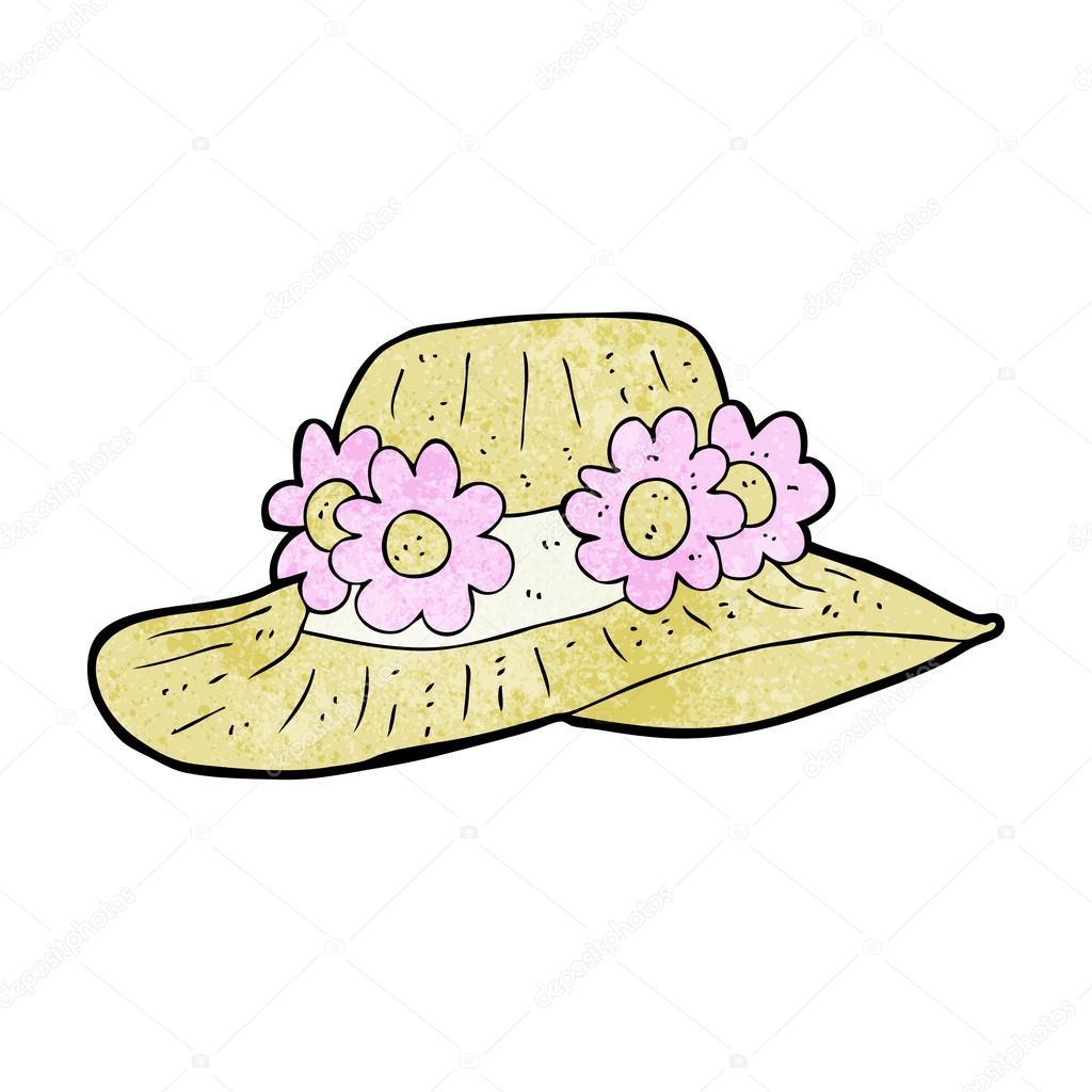 1024x1024 Cartoon Summer Hat Stock Vector Lineartestpilot