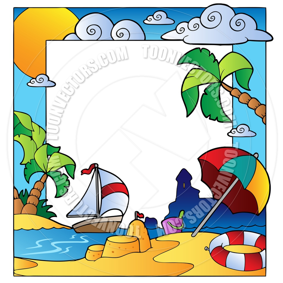 940x940 Cartoon Frame With Summertime Theme By Clairev Toon Vectors Eps