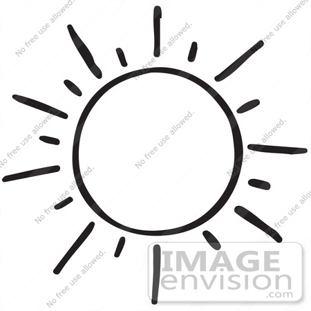450x450 Clipart Of A Shining Sun In Black And White