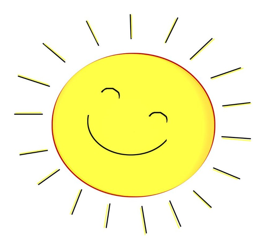 830x803 Happy Sun Clipart