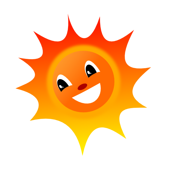 582x597 Smiley Sun Clip Art